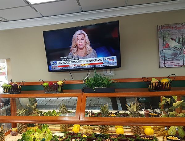 Professional Restaurant TV Install